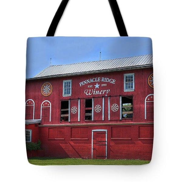 Tote Bag featuring the digital art Pinnacle Ridge Winery by Sharon Batdorf