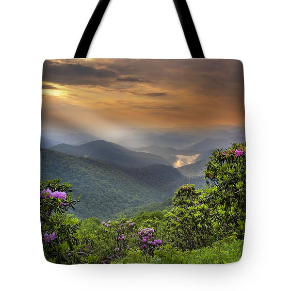 Tote Bag featuring the photograph Pinnacle Sunset  by Ken Barrett