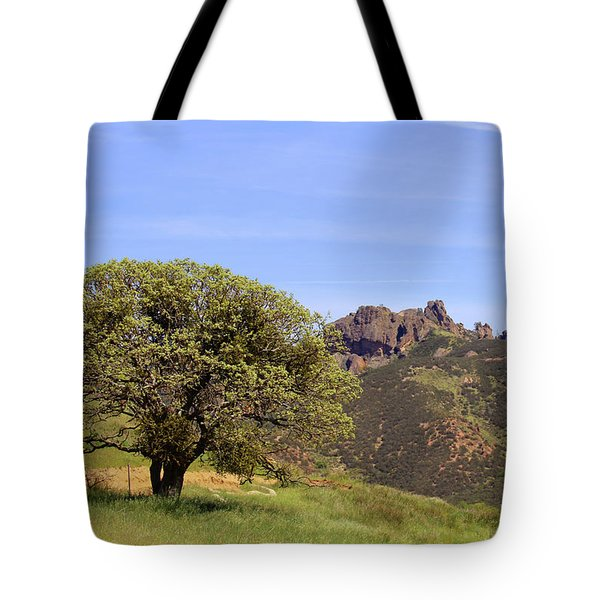 Tote Bag featuring the photograph Pinnacles Vista by Art Block Collections