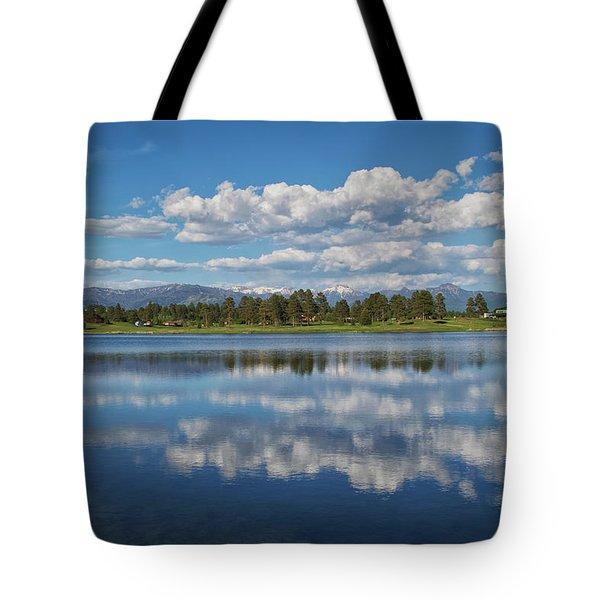 Pinon Lake Reflections Tote Bag
