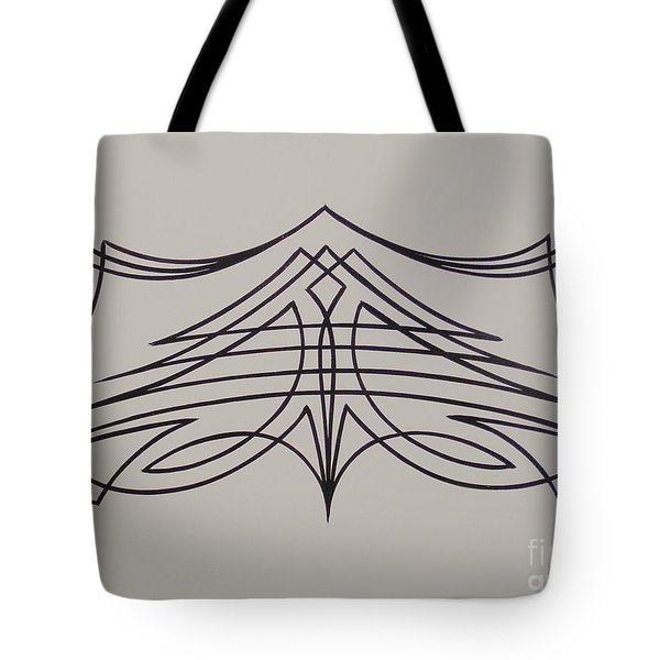 Pinstripe Black On White Tote Bag