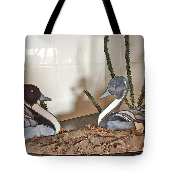 Pintail Ducks Tote Bag