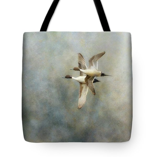 Tote Bag featuring the photograph Pintail Duo by Angie Vogel