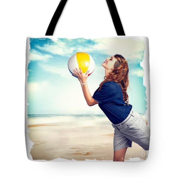 Pinup Beach Fun Tote Bag