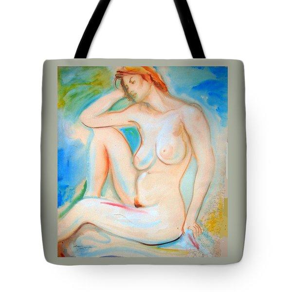 Pinwheel Nude Tote Bag