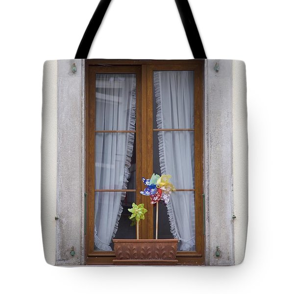 Pinwheels Will Do Tote Bag by Colleen Williams
