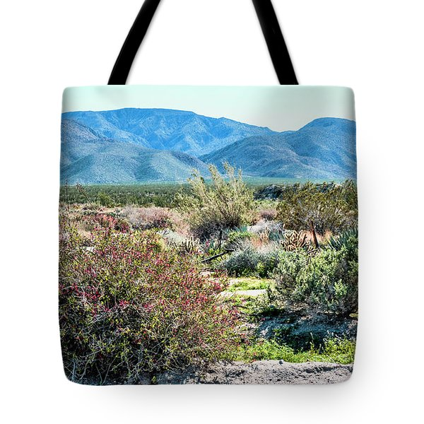 Pinyon Mtns Desert View Tote Bag by Daniel Hebard