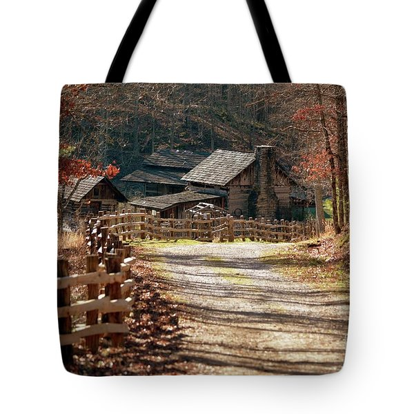 Tote Bag featuring the photograph Pioneer Farm by Brenda Bostic
