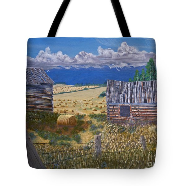 Pioneer Homestead Tote Bag by Stanza Widen