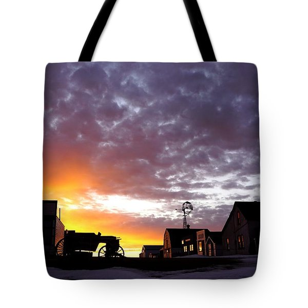 Pioneer Town Sunset Tote Bag