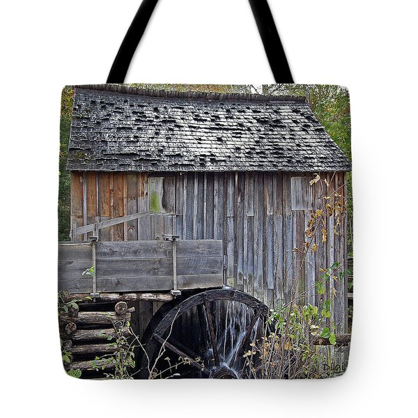 Pioneer Water Mill Tote Bag by DigiArt Diaries by Vicky B Fuller