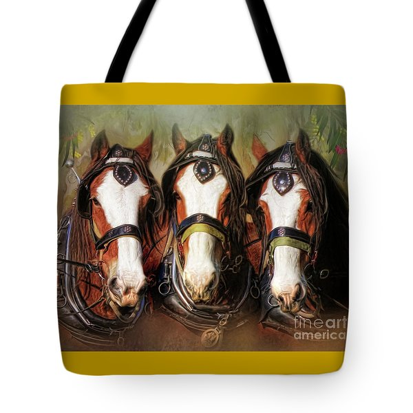 Tote Bag featuring the digital art  Pioneers by Trudi Simmonds