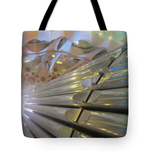 Tote Bag featuring the photograph Pipe Organ Of La Sagrada by Christin Brodie