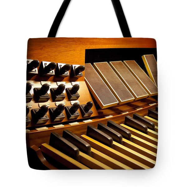 Pipe Organ Pedals Tote Bag