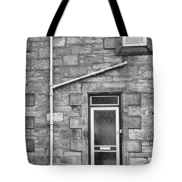 Tote Bag featuring the photograph Pipes And Doorway by Christi Kraft