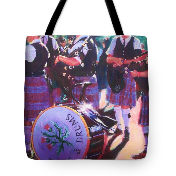 Pipes And Drums Tote Bag