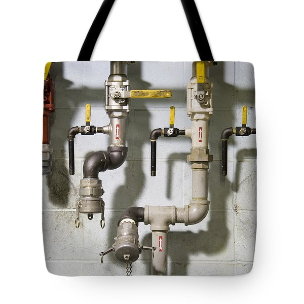 Pipes And Valves Tote Bag by Alexey Stiop