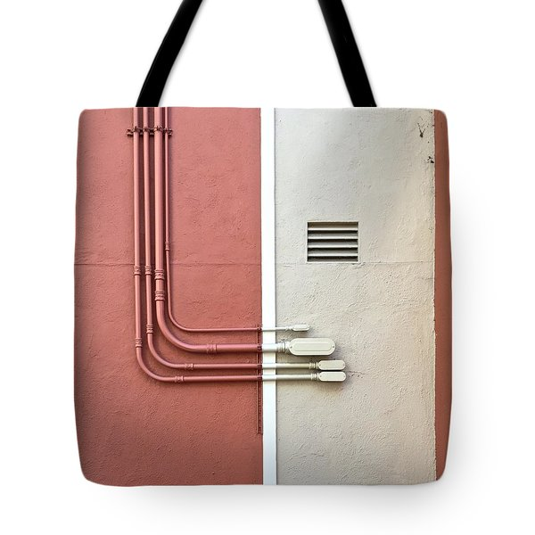 Pipes Tote Bag by Julie Gebhardt
