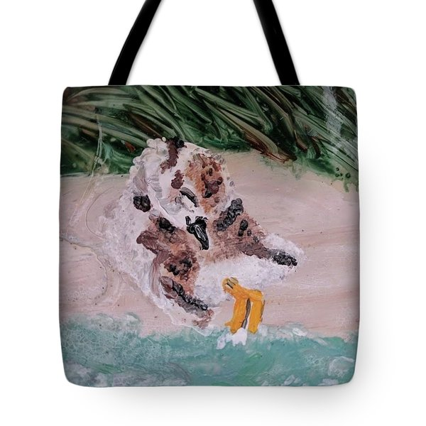 Piping Plover Chick 2 Tote Bag