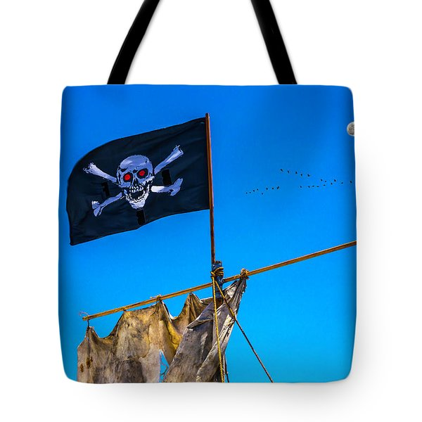 Pirate Flag And Moon Tote Bag