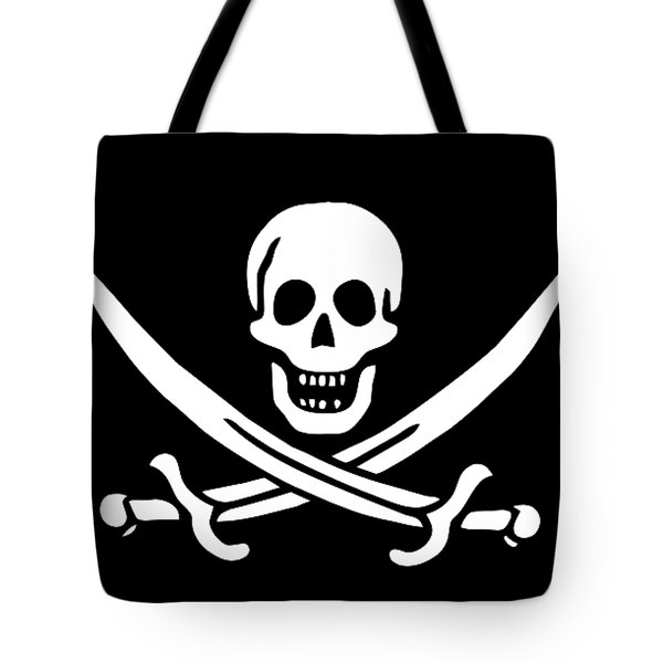 Pirate Flag Jolly Roger Of Calico Jack Rackham Tee Tote Bag