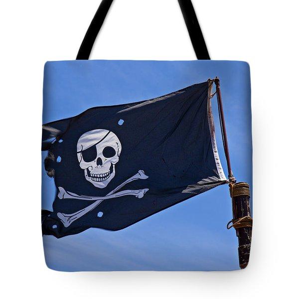 Pirate Flag Skull And Cross Bones Tote Bag by Garry Gay