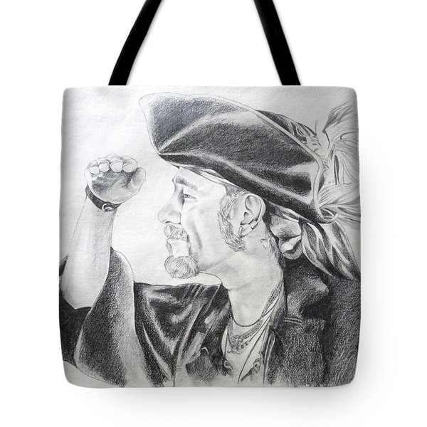 Pirate Mikey Portrait Drawing Tote Bag
