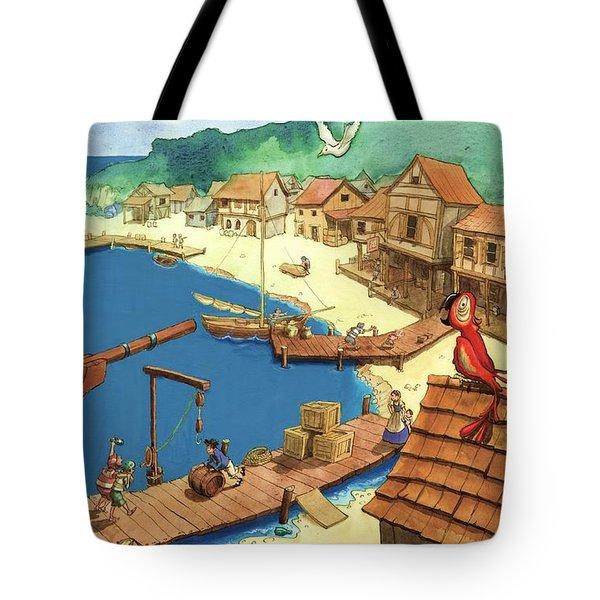Pirate Port Tote Bag