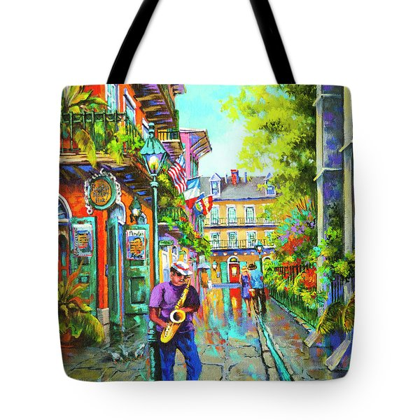 Tote Bag featuring the painting Pirate Sax  by Dianne Parks