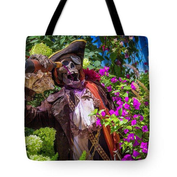 Pirate Skeleton Drinking Tote Bag