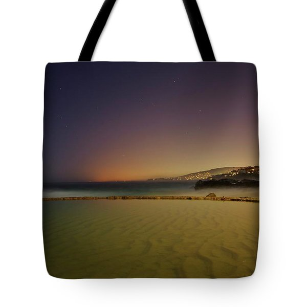 Pirate Tower Under Stars Tote Bag