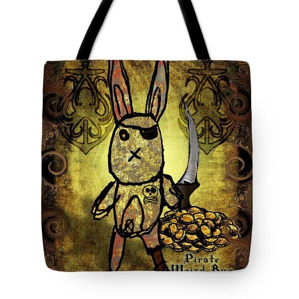 Tote Bag featuring the digital art Pirate Weird Bun by Iowan SF and Ntr HMM