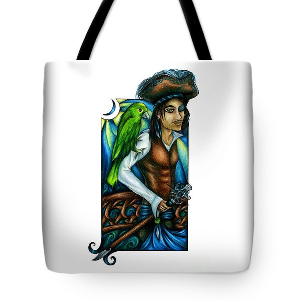 Pirate With Parrot Art Tote Bag