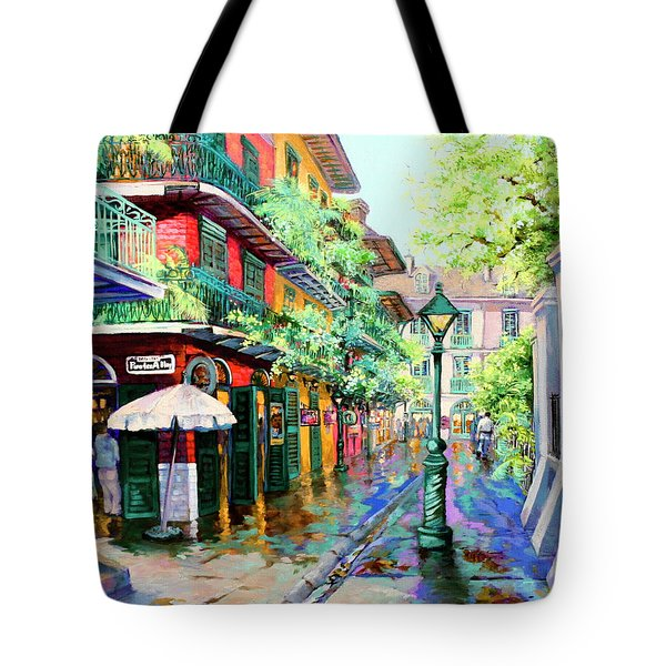 Pirates Alley - French Quarter Alley Tote Bag by Dianne Parks