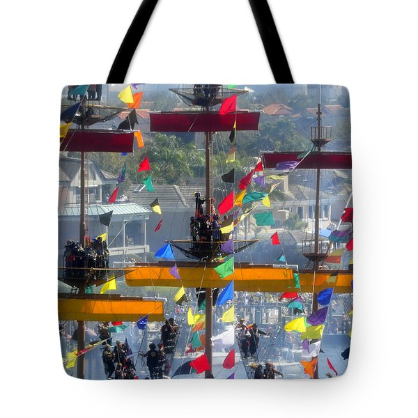 Pirate's In The Rigging Tote Bag by David Lee Thompson