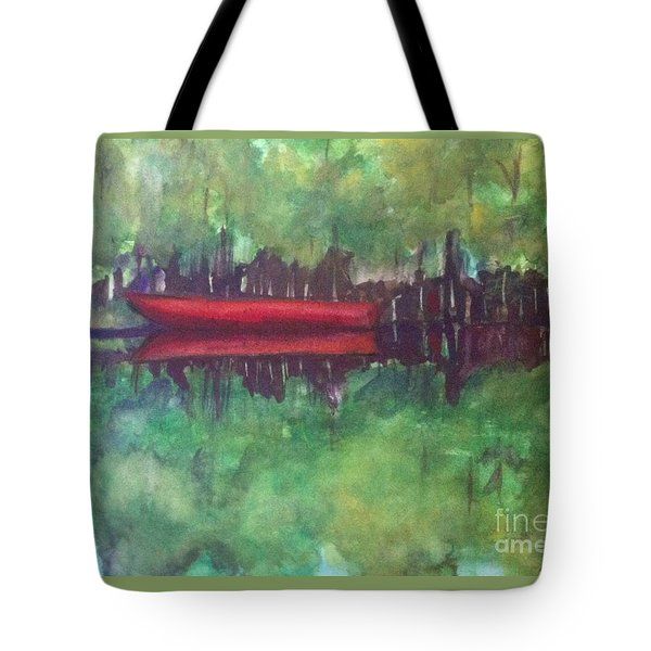 Pirogue On Bayou Lafourche Tote Bag