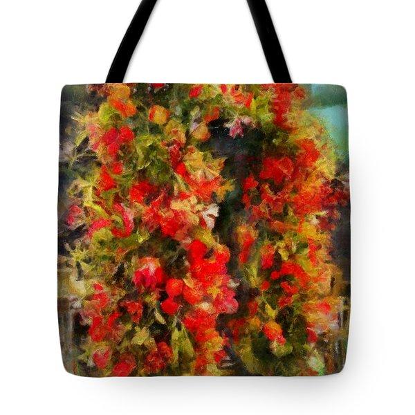 Pi's Flowers 2 Tote Bag
