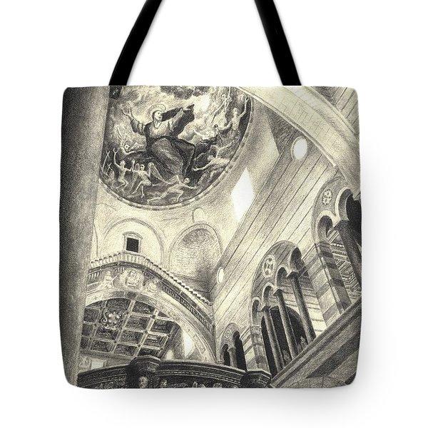 Pisa Duomo Tote Bag by Norman Bean