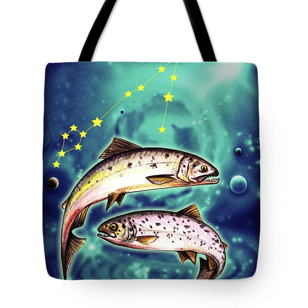 Pisces In The Sky Tote Bag