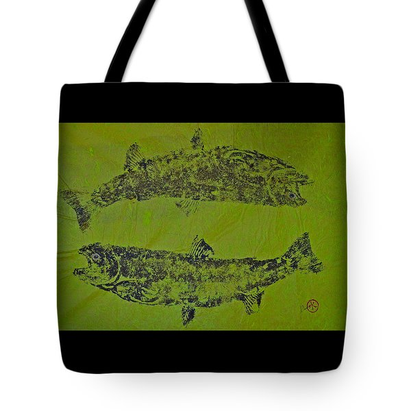Pisces Rising  Steelhead Salmon Tote Bag