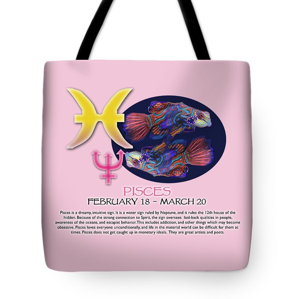 Pisces Sun Sign Tote Bag