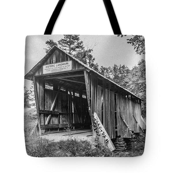 Pisgah Covered Bridge No. 1 Tote Bag