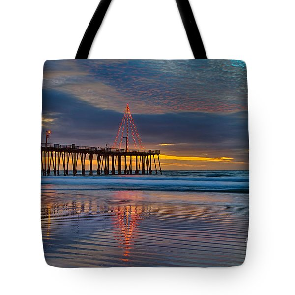 Pismo Beach Christmas Tote Bag