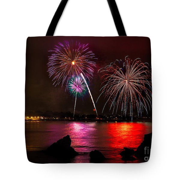 Pismo Beach Fireworks Tote Bag