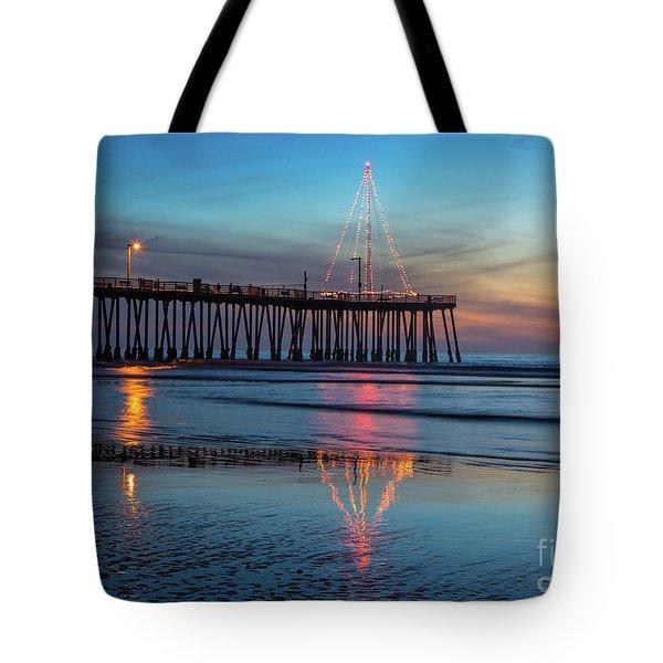 Pismo Pier Lights Tote Bag
