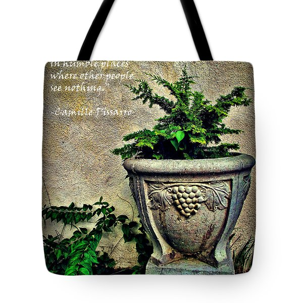 Pissarro Inspirational Quote Tote Bag