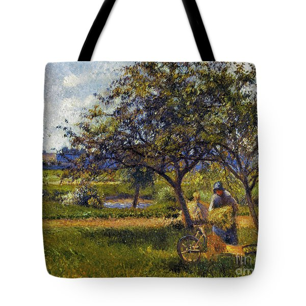 Pissarro: Wheelbarr., 1881 Tote Bag by Granger