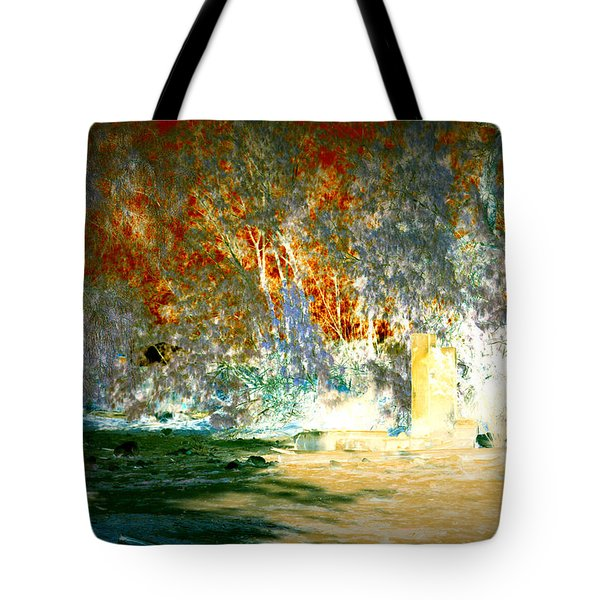 Pissarro's Garden Tote Bag by Nature Macabre Photography