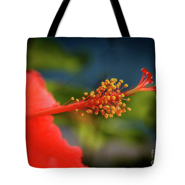 Tote Bag featuring the photograph Pistil Of Hibiscus by Robert Bales
