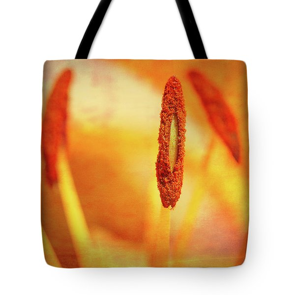Tote Bag featuring the photograph Pistil Packen by Annette Hugen